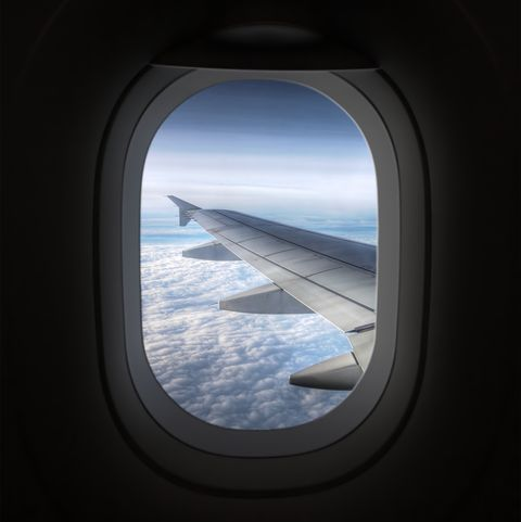 view looking through an airplane window
