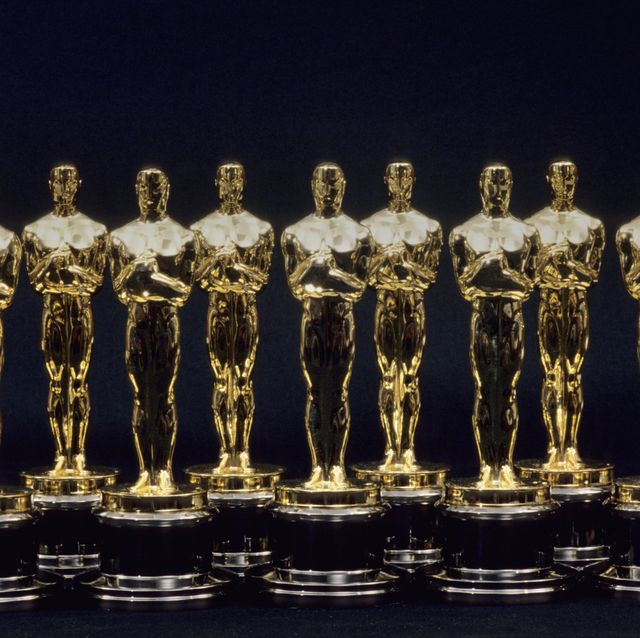 Oscars Statues Lined Up