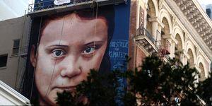 Mural Of Swedish Teenage Environmental Activist Greta Thunberg Painted In San Francisco