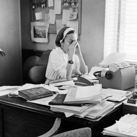 Gloria Swanson At Work
