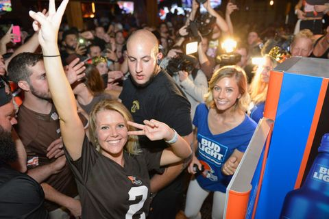Cleveland Fan React to Getting Free Bud Light After Browns
