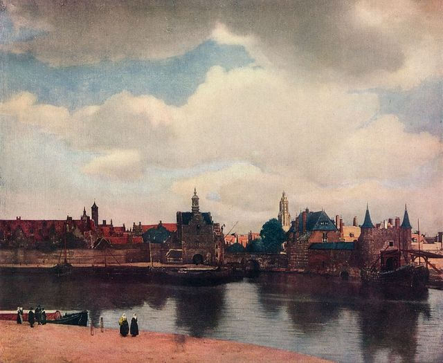 'view of delft from the rotterdam canal', 1660 61, 1912