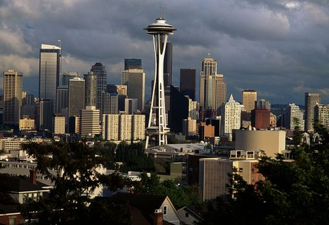 view of downtown seattle with space needle