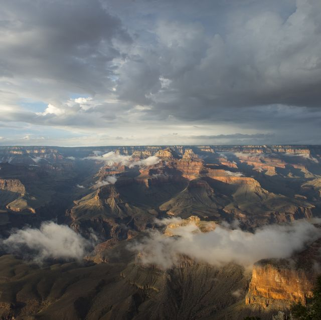 View of the Grand Canyon from the Yavapai Point area on the...