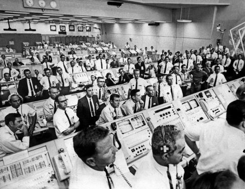 NASA's Control Room During Apollo 11 Launch