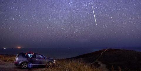 Geminid meteor shower in Vladivostok, Russia
