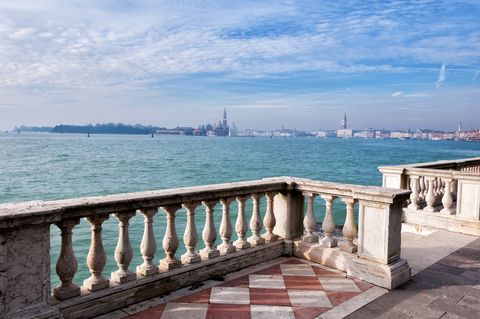 a view of venice, from the garden of the biennial
