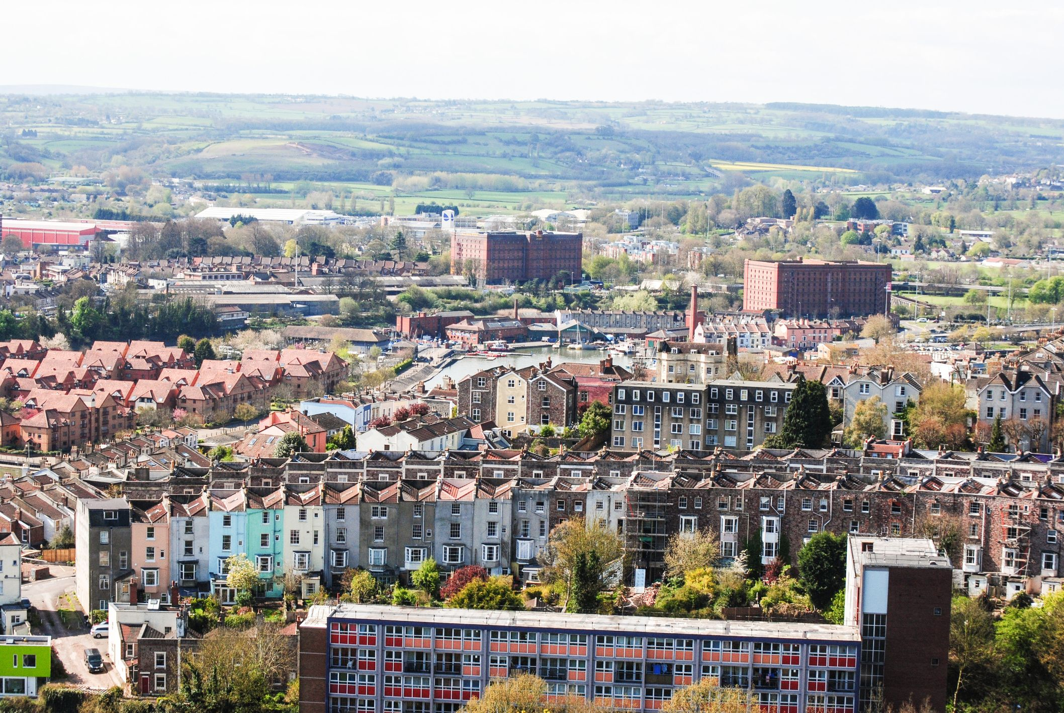View on houses in Bristol, UK