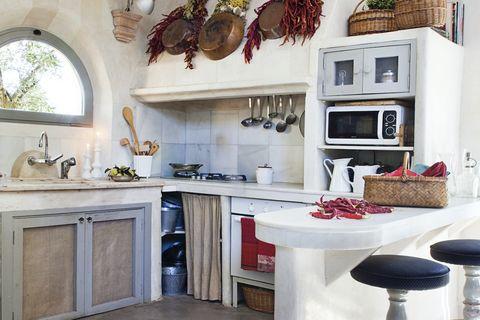 claves estilo farmhouse cocina rústica