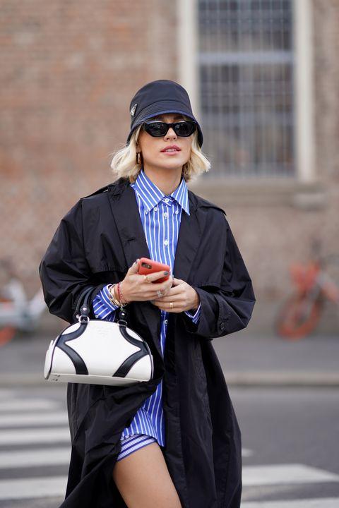 漁夫帽的質感變化型!最修飾臉型的20款「精品漁夫帽」推薦 street style february 21st   milan fashion week fallwinter 2020 2021