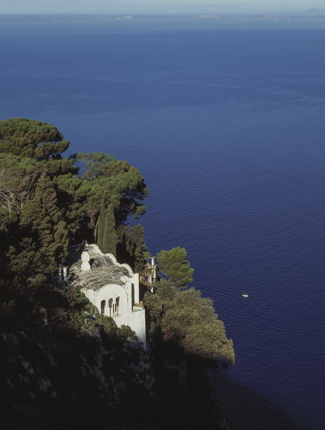 view of the chapel in villa san michele, previously owned by axel munthe, anacapri, capri, campania, italy