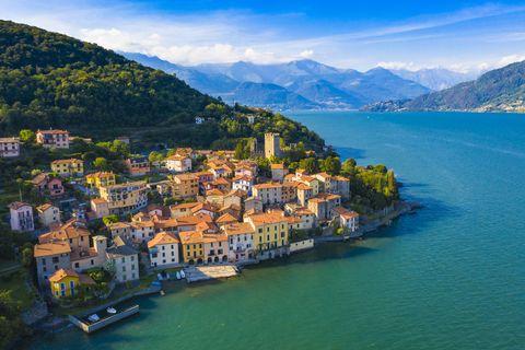 village of rezzonico, lake como, italy