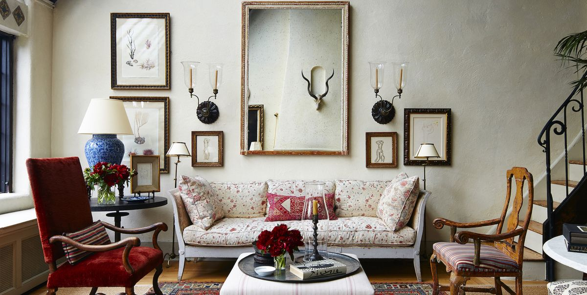 Decorating Ideas Unique Living Rooms: Tour A Greenwich Village Penthouse With Curated Antiques