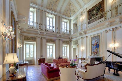 Interior design, Lighting, Room, Ceiling, Couch, Interior design, Furniture, Floor, Hall, Living room,
