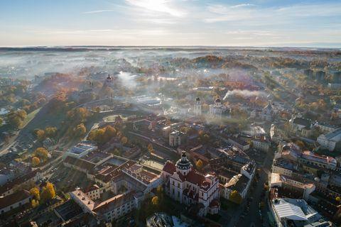 Aerial photography, Bird's-eye view, Urban area, Metropolitan area, City, Sky, Cityscape, Human settlement, Water, Photography,