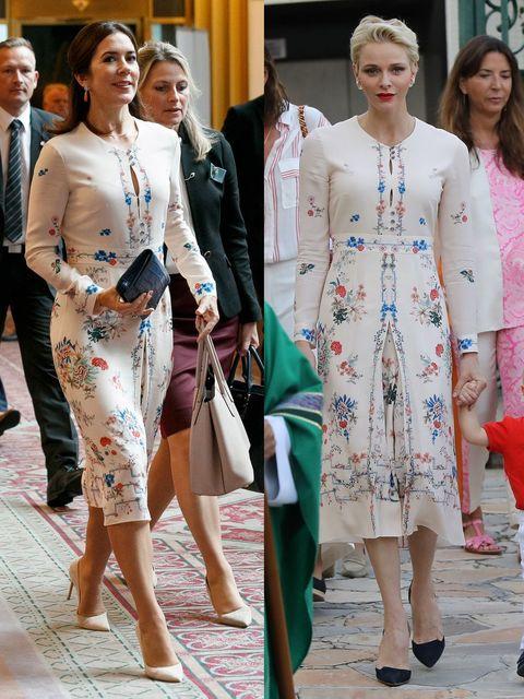 Crown Princess Mary Elizabeth Princess Charlene of Monaco same dress