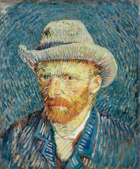 Self-Portrait with Grey Felt Hat by Vincent van Gogh