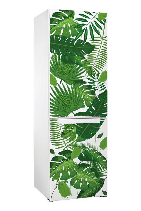 Vinilo tropical para la puerta del frigorífico
