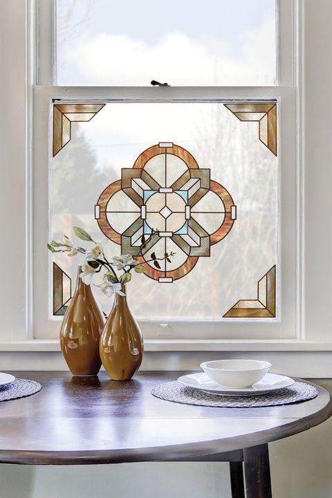 Vinilo para ventana con forma de rosetón