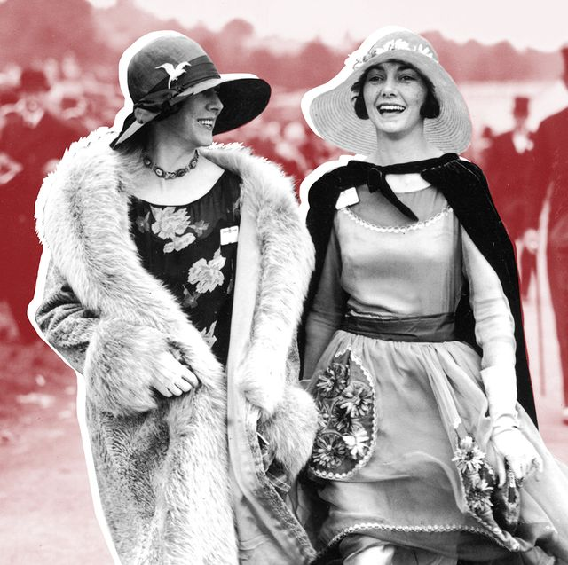 two derby girls walking, vintage fashion