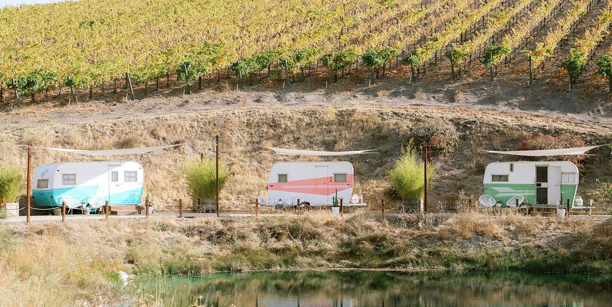 You Can Spend a Weekend Drinking Wine in Vintage Campers at This Charming Vineyard
