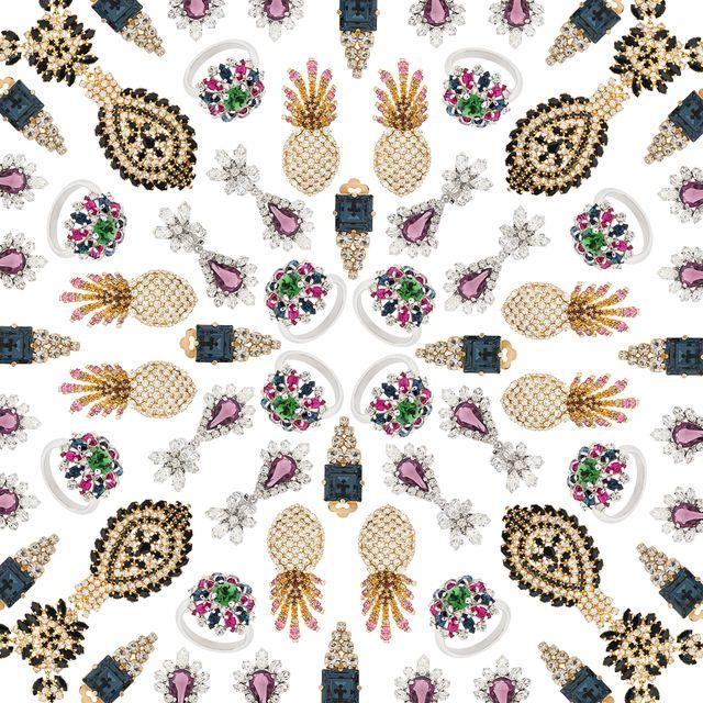 Pattern, Pineapple, Design, Plant, Visual arts, Feather, Motif, Wildflower, Wallpaper, Fruit,