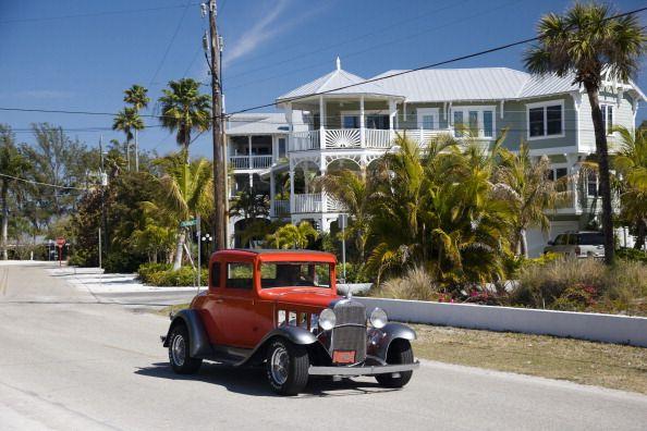 classic auto on anna maria island, florida, usa