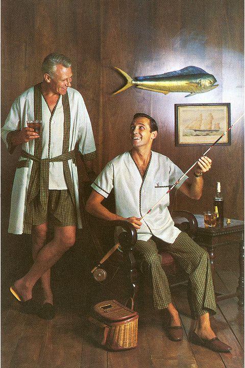 fishing buddies in pajamas