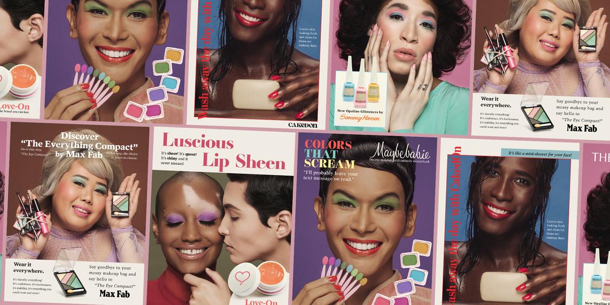 www.oprahmag.com: These Photos Reimagine Vintage Cosmetics Ads with LGBTQIA Models