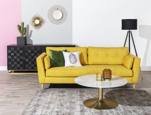 decorar con amarillo ambiente vintage de camino a casa