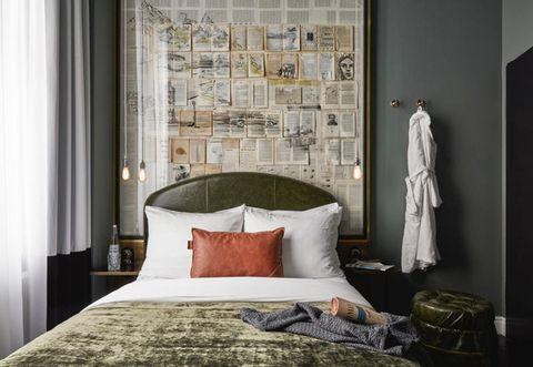 Room, Bed, Interior design, Property, Floor, Wall, Textile, Bedding, Bedroom, Bed sheet,