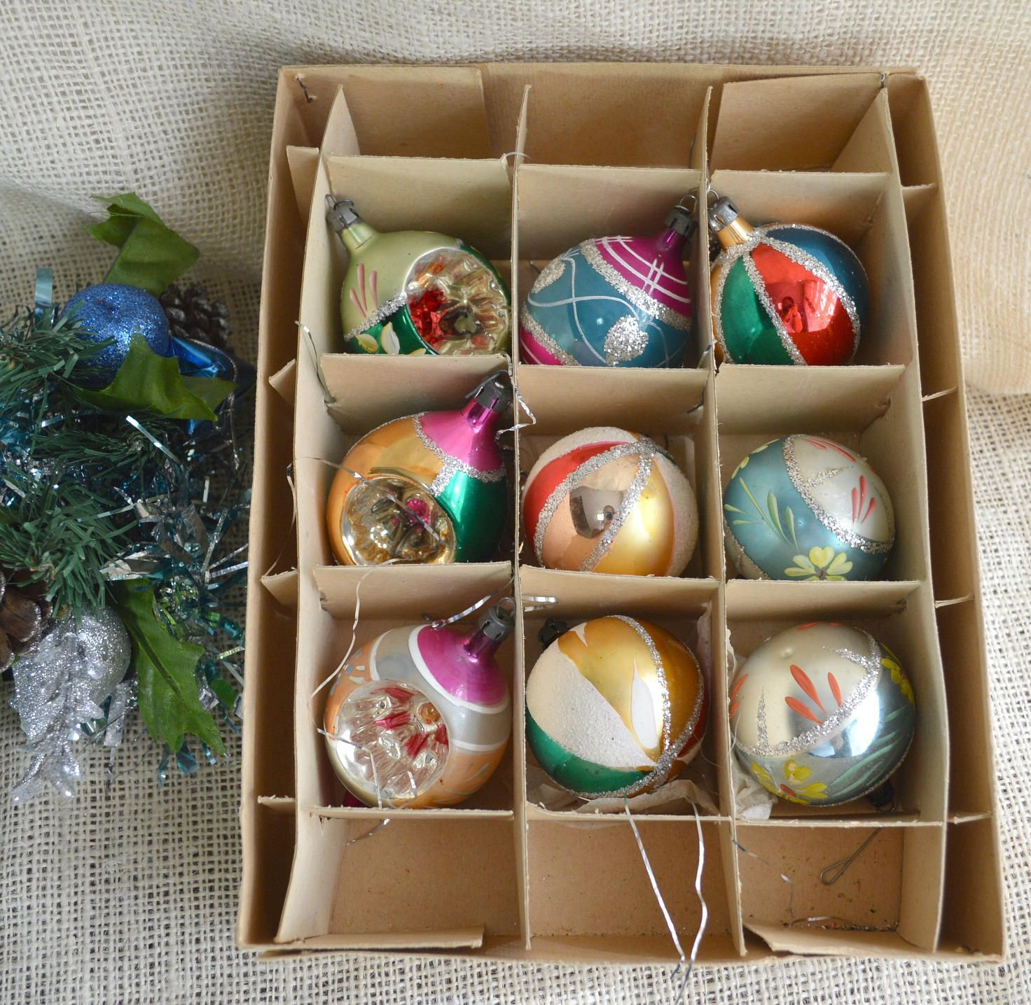Vintage christmas ornaments check it out deck the Vintage glass christmas tree ornaments