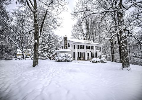 Vintage old house in fresh snow