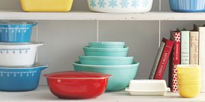 vintage colored pyrex dishes