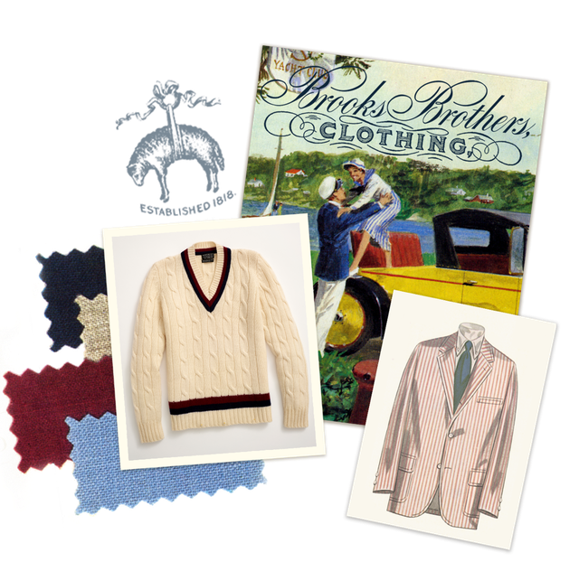 men's clothing and postcard