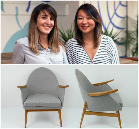 Leslie Fournier and Sandrine Zhang Ferron, founders of leading online furniture marketplace vinterior