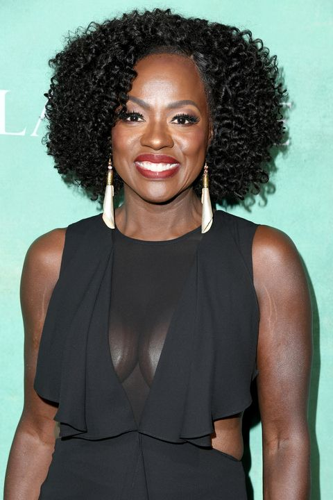 viola davis Medium Length Celebrity Hairstyles