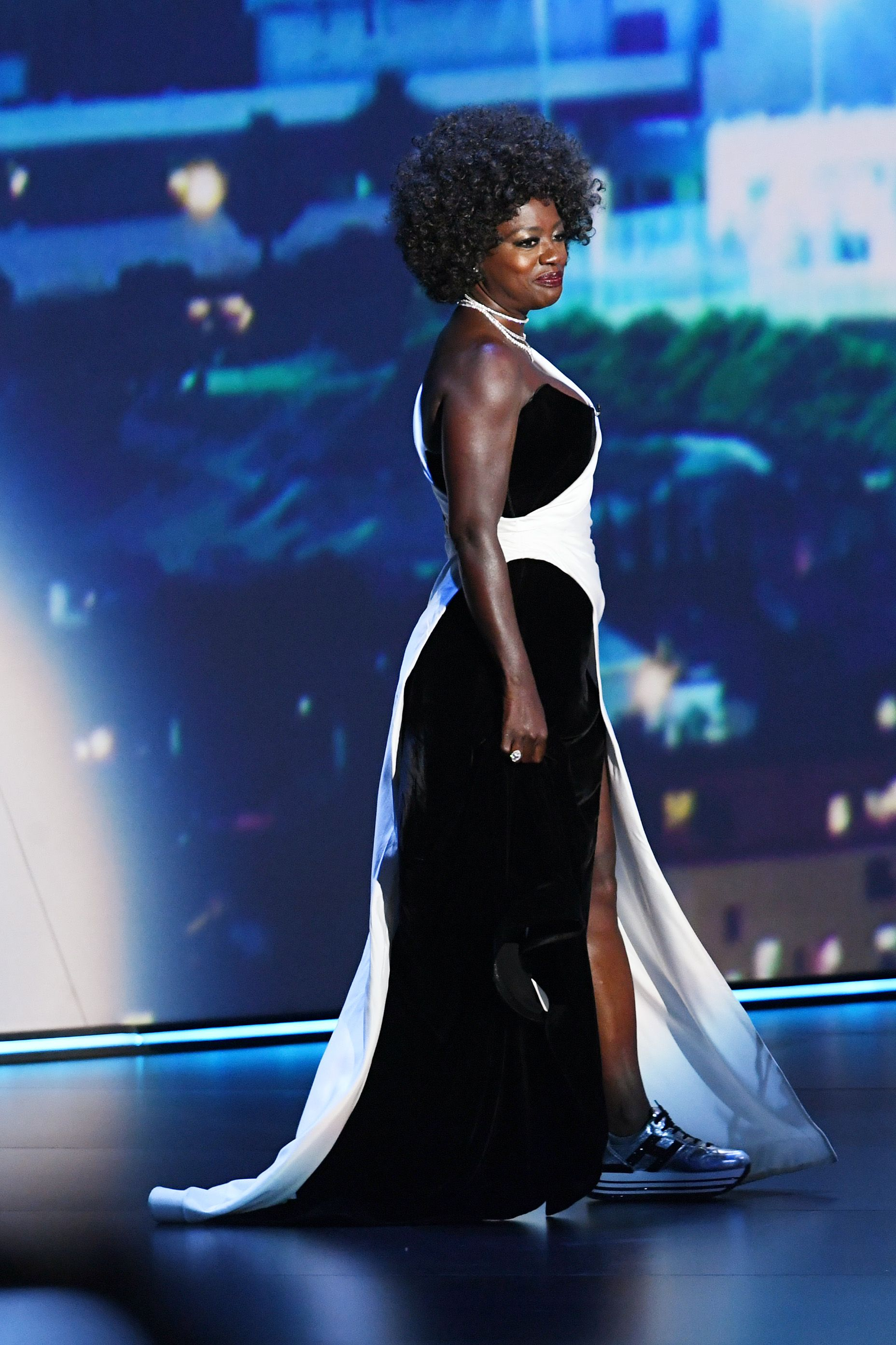 Viola Davis Changed From Heels To Sneakers To Present An Award At The Emmy's