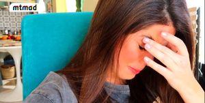 Violeta Mangriñán llora