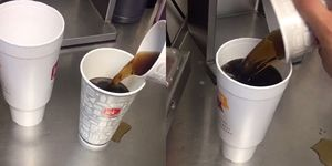 We tried the viral cup hack to see if takeaway cups are the same size