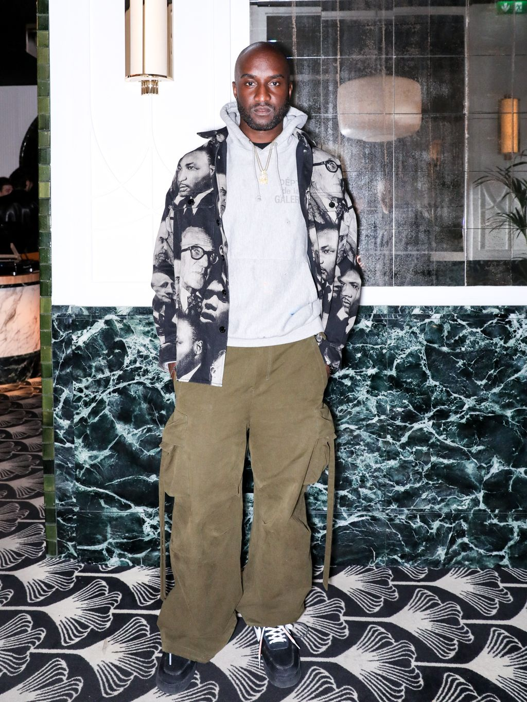 Virgil Abloh Virgil Abloh along with DJ Peggy Gou celebrated the launch of her first Kirin collection with a special dinner at Beefbar in Paris on February 26.