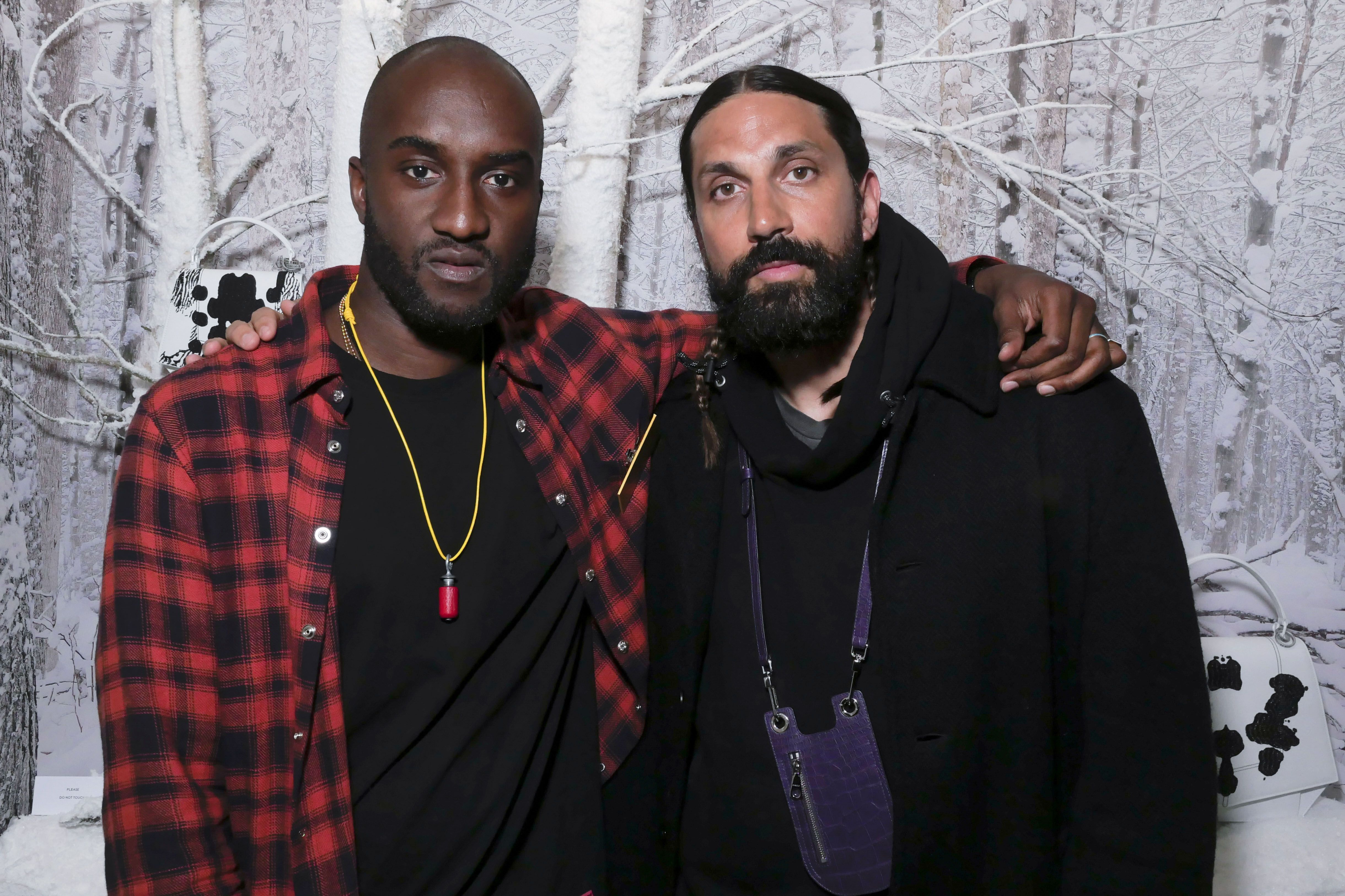 """Virgil Abloh and Ben Gorham Virgil Abloh and Ben Gorham at Byredo's showcase of their """"Rare Byrds Of A Feather"""" collection during Paris Fashion Week on February 28."""