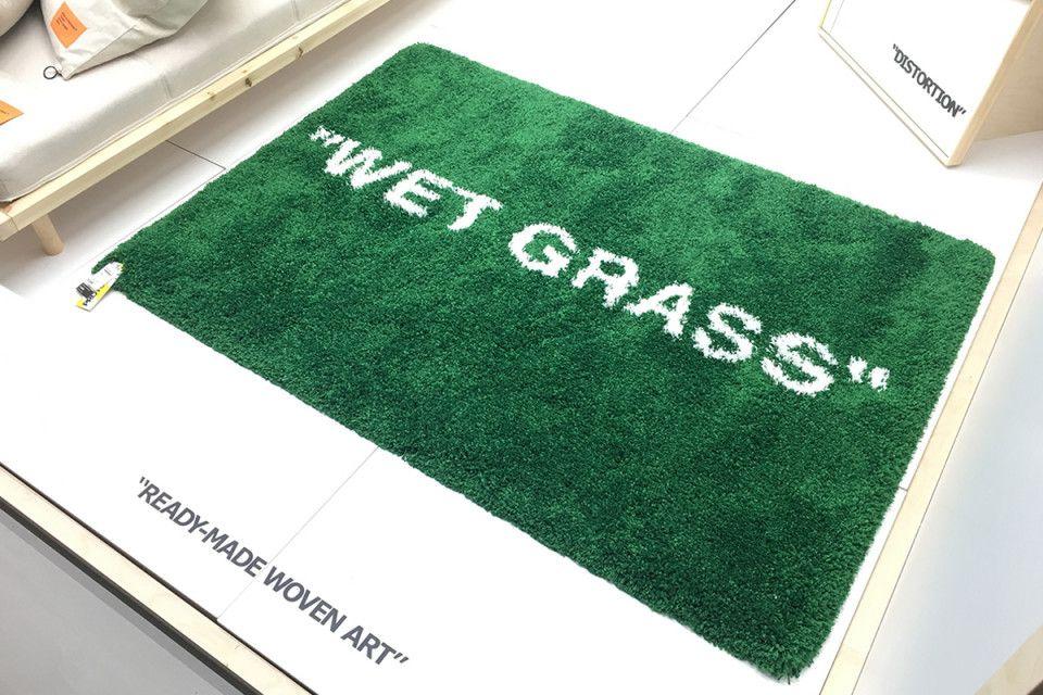 virgil abloh ikea wet grass