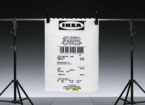 Ikea shopping receipt rug designed by Virgil Abloh -Democratic Design Day 2018