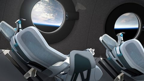 太空梭裡的座椅侵斜