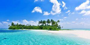 Virgin Island in Maldives