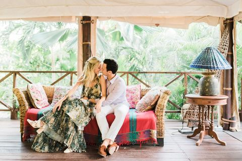 Virginia Ashe & Ian Ross Embraced All Things Tropical For Their Wedding Weekend in Cartagena