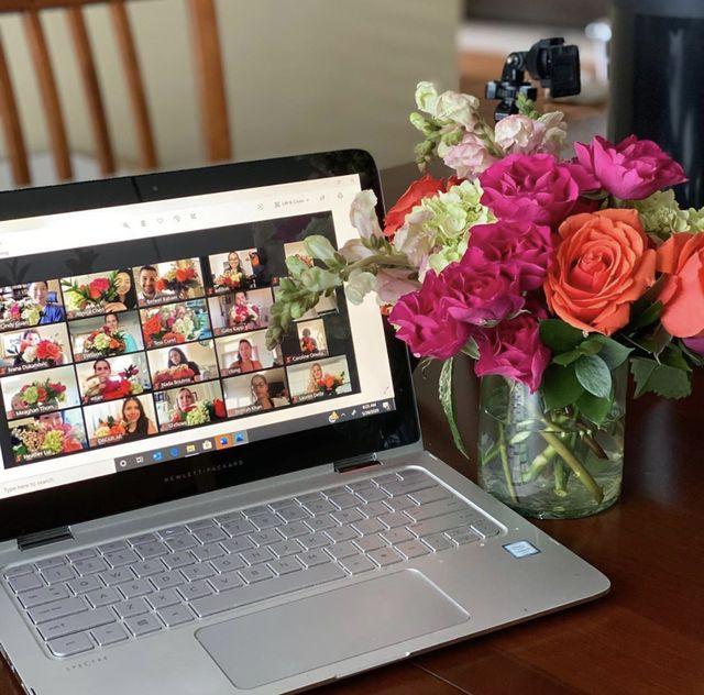 virtual flower arrangement class