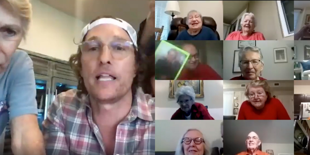 Matthew McConaughey Hosted a Virtual Bingo Night for Seniors, and the Video Is Precious