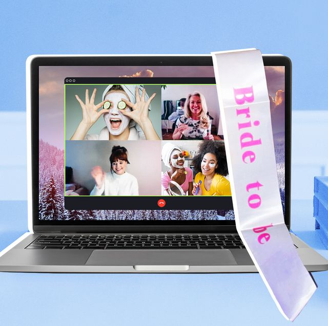 how to throw a virtual bridal shower or bachelorette party